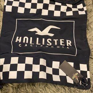 NWT Hollister Checkered Drawstring Bag